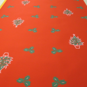 Moquette sapins rouge