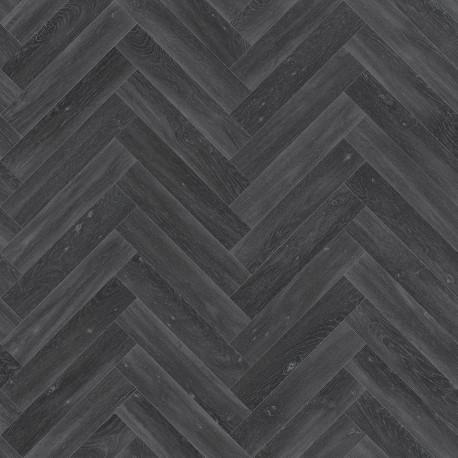 PVC/Vinyle Plaza Chevron noir