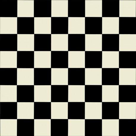PVC/Vinyle Plaza damier noir et blanc